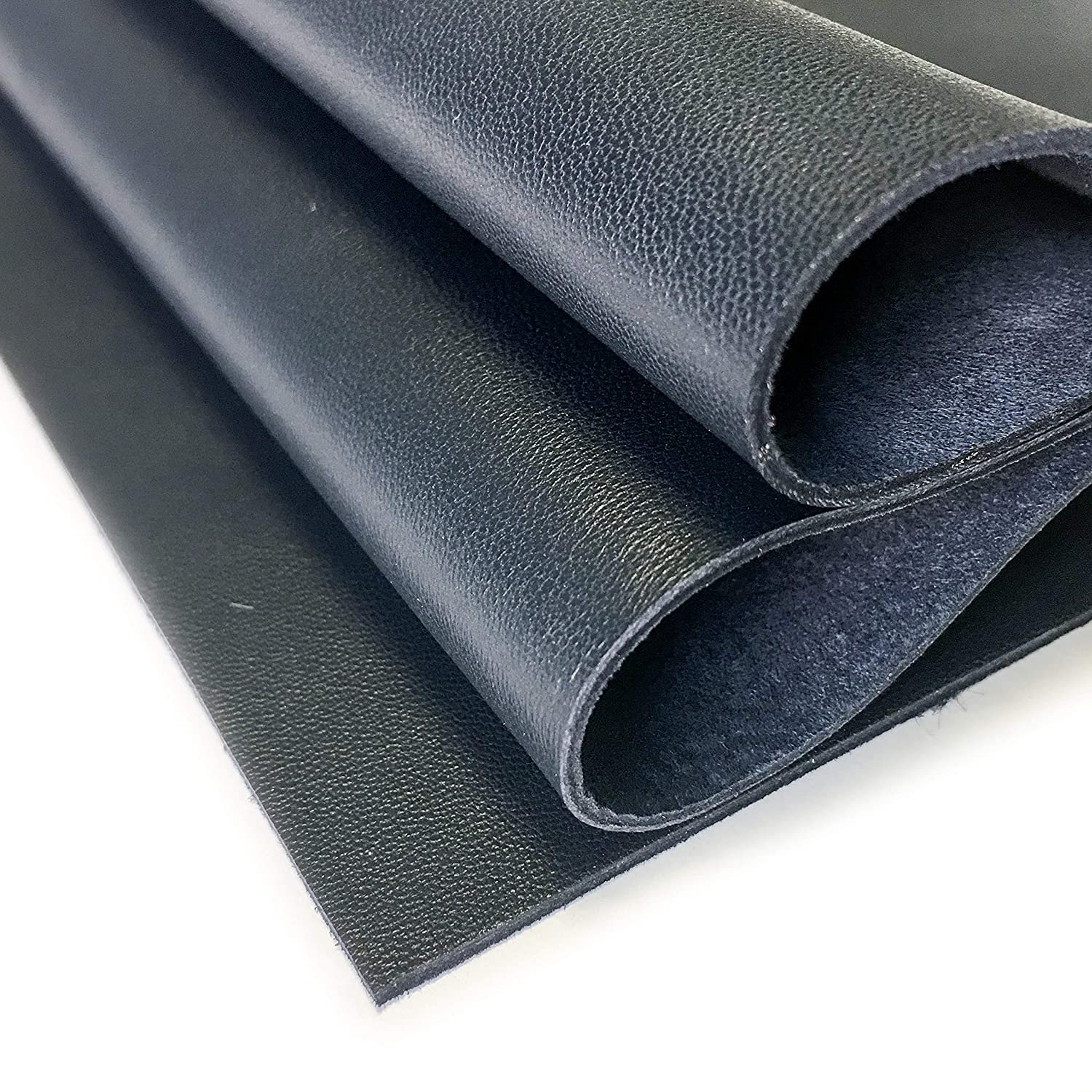 1 Durable Sheepskin Leather Sheet for Bookbinding 12x12In// 30x30cm Black Genuine Leather for Crafts