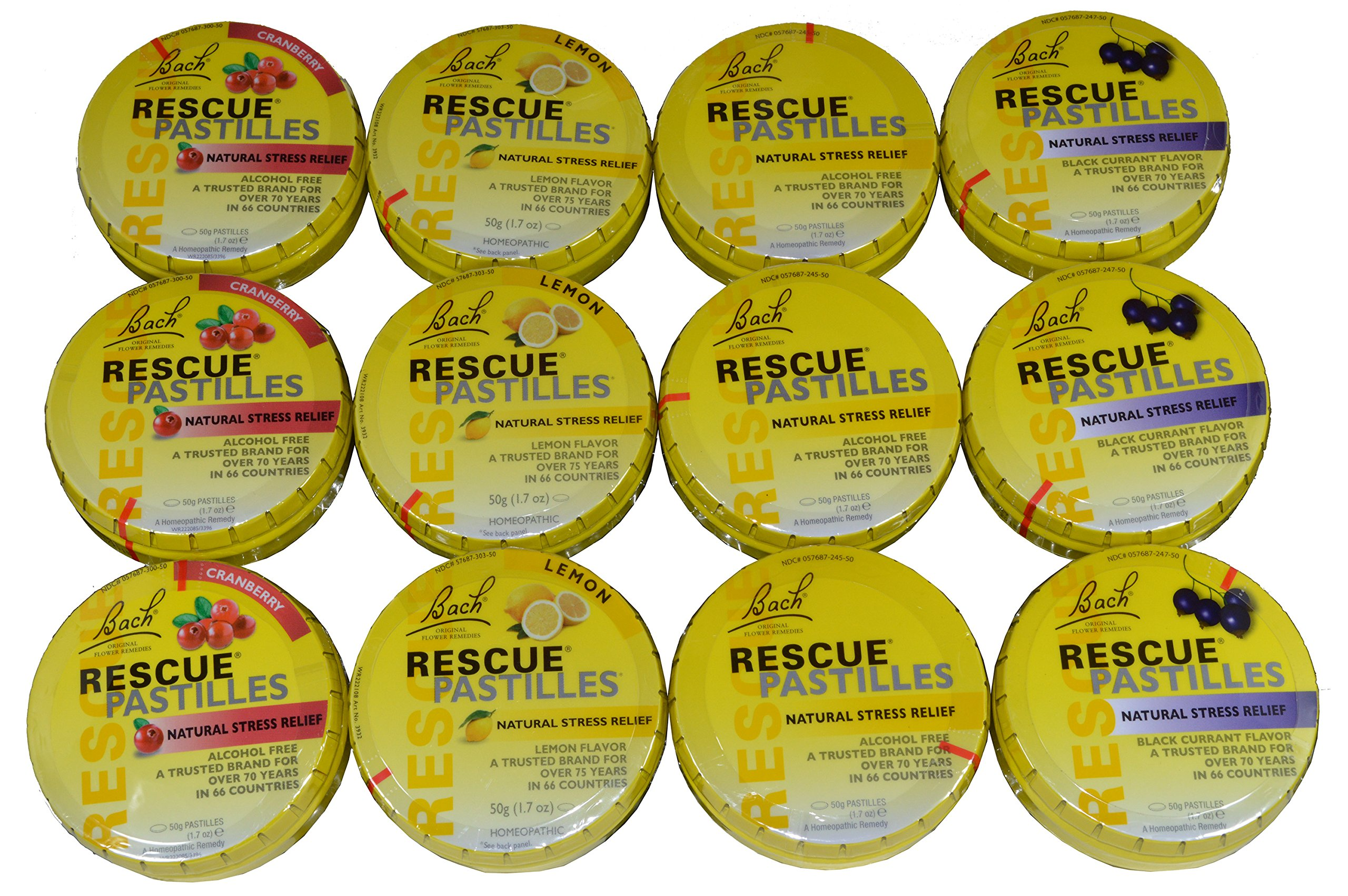 Bach Rescue Pastilles Variety Pack of 12 by Nelson