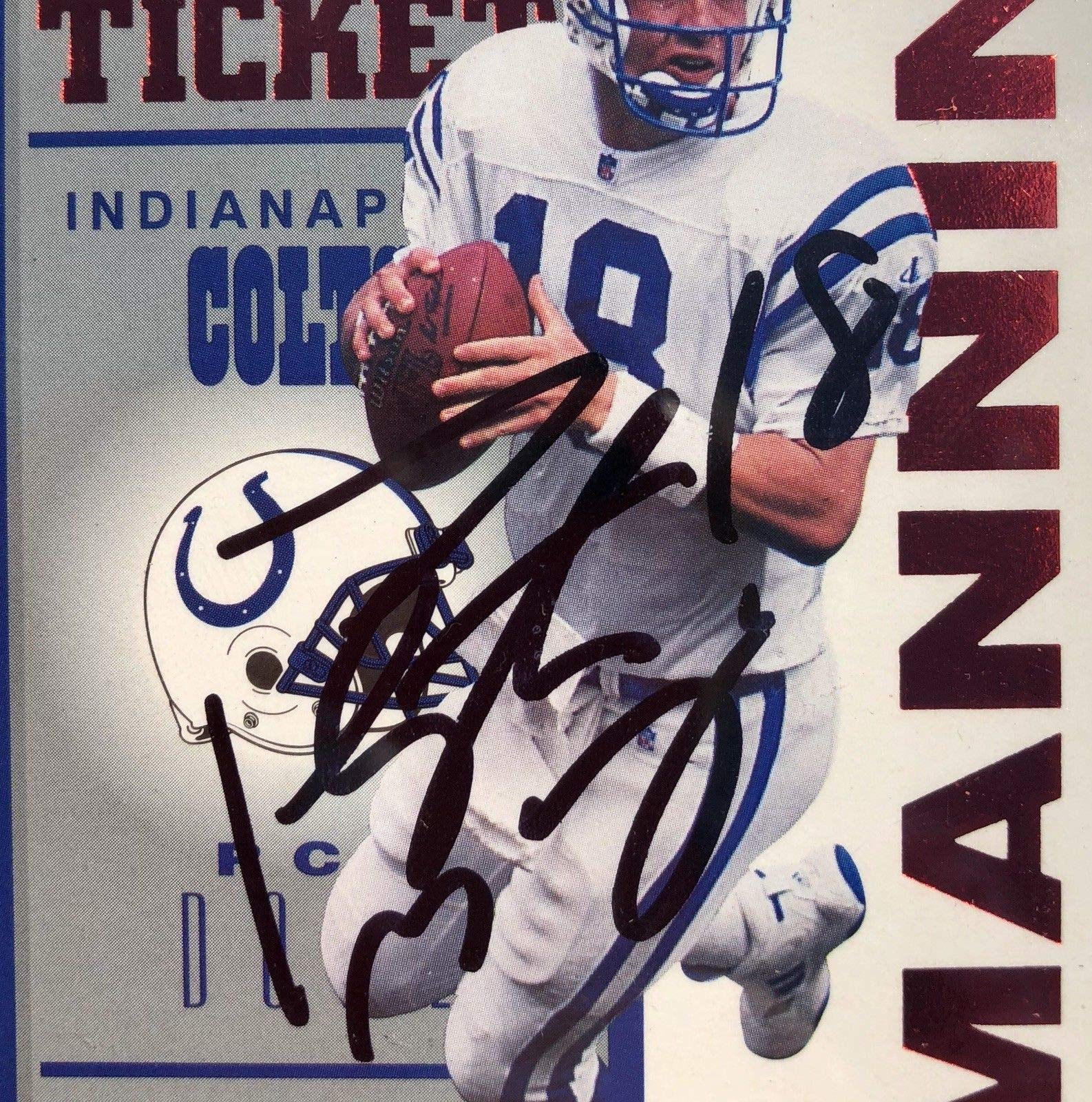 Peyton Manning Autographed Signed 1998 Rookie Contenders Red Ticket PSA/DNA Authentic Gem Mint 10
