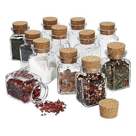 /Tarros vasos 53/ml Tapa Color Rojo Blanco Cuadros to 43/tarros miel mermelada Conservas Cristal, Set Vasos, vasos de miel Horno desmoldable Juego vac/ías redondo/ vasos, Mucha Conservas