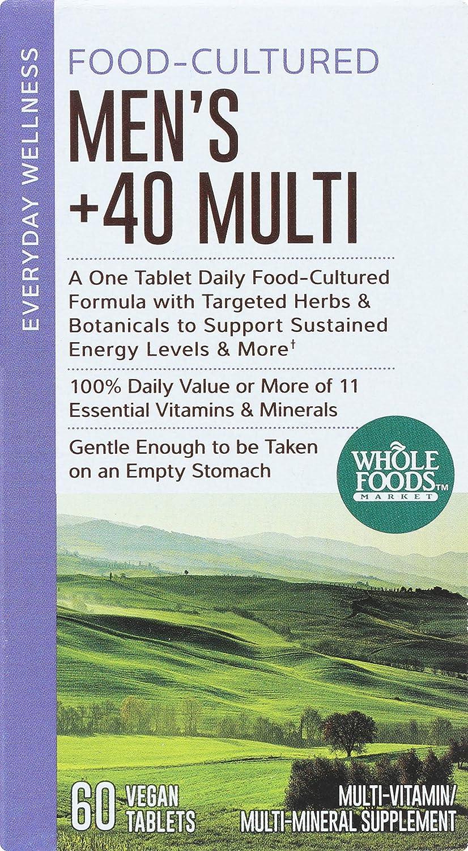 Whole Foods Market, Food-Cultured Men s 40 Multi, 60 ct