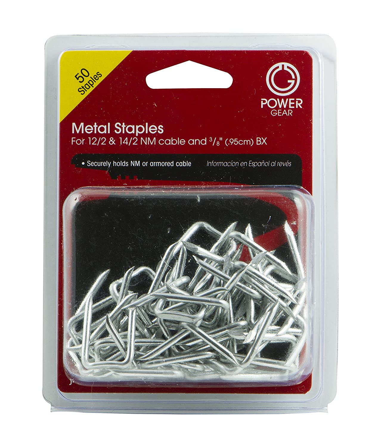 Power Gear Steel Staples (Pack of 50), 52127 - Electrical Cable Staples - Amazon.com