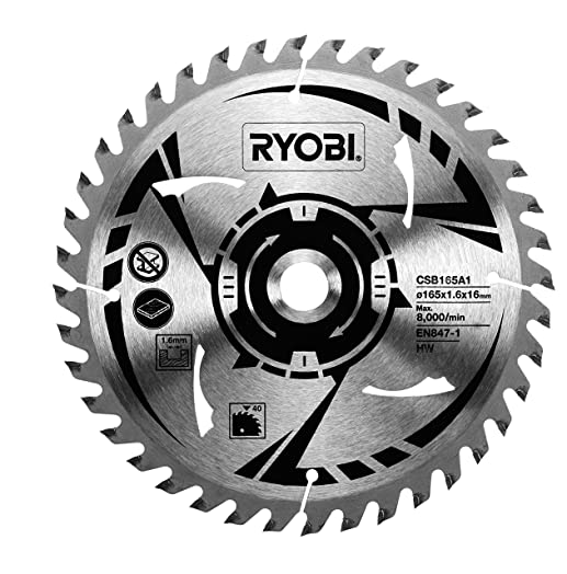 Ryobi csb165a1 165 mm circular saw blade for r18cs 0 amazon ryobi csb165a1 165 mm circular saw blade for r18cs 0 greentooth Gallery