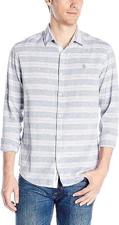 Original Penguin Camisa de Manga Larga para Hombre, diseño de ...