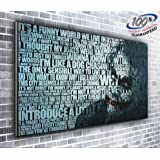 Canvas Batman Joker Heath Ledger Movie Quotes Panoramic Print XXL Picture 50 inch x 20 inch Over 4 foot wide x 1.5 foot high Ready to Hang Stunning Quality