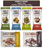 Gorilly Goods Paleo Organic Raw Vegan Trail Mix Individual Snack Packs - VARIETY PACK: Hillside, Coast, Baja, Trail, Jungle & Forest (12 Count - 2 Packs of Each Flavor)