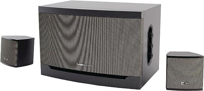 Eurosell – 32 W HighEnd Premium Diseño Sistema de sonido – Sistema de altavoces 2.1 para televisor/PC Ordenador Portátil Gamer Gaming TV Box Cajas Con Subwoofer Negro Gris Sistema de altavoces: Amazon.es: Informática