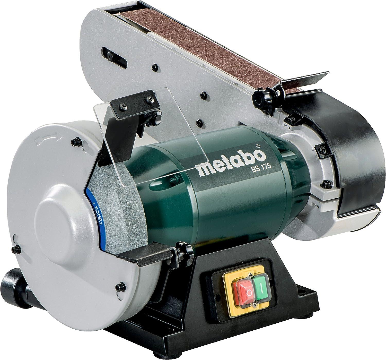 Metabo 6.01750.00 601750000-Esmeriladora de cinta BS 175 monofásica 500W anchura de banda 50 x 1020 mm, 500 W, 240 V, Negro, Verde