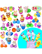 24 Pieces 2 3 8 Finger Puppet Easter Eggs For Theme Party Favor