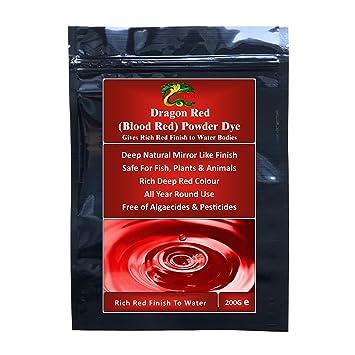 HYDRA DRAGON RED POWDER DYE (RICH RED) 200gm Water Feature Dye Safe ...