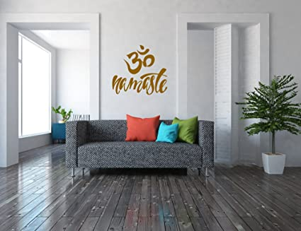 Amazon Com Om Namaste Wall Decal Wall Sticker Yoga Home Decor