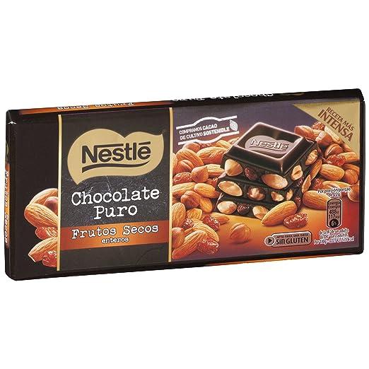 Nestlé - Tableta de Chocolate Negro con Almendras - 200 g: Amazon.es: Alimentación y bebidas