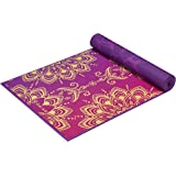 Gaiam Premium Reversible Print Yoga Mat, Extra Thick Non Slip Exercise & Fitness Mat for All Types of Yoga, Pilates & Floor Exercises