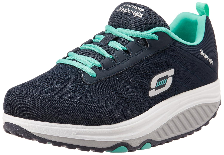 Skechers Women's Shape Ups 2.0 Fashion Sneaker B00SDD0PHO 6 B(M) US|Navy/Turquoise