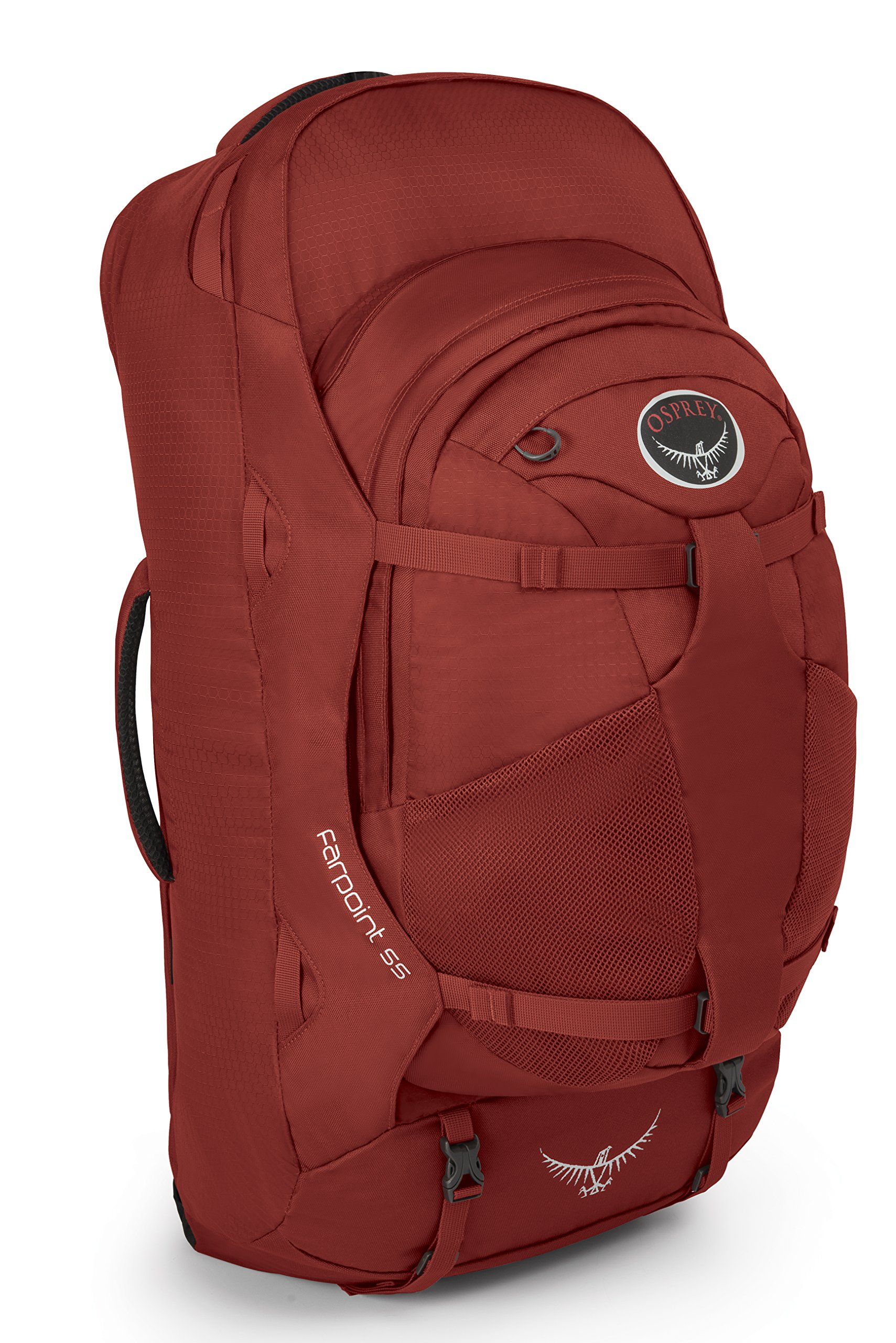 Osprey Packs Farpoint 55 Travel Backpack, Jasper Red, Medium/Large by Osprey