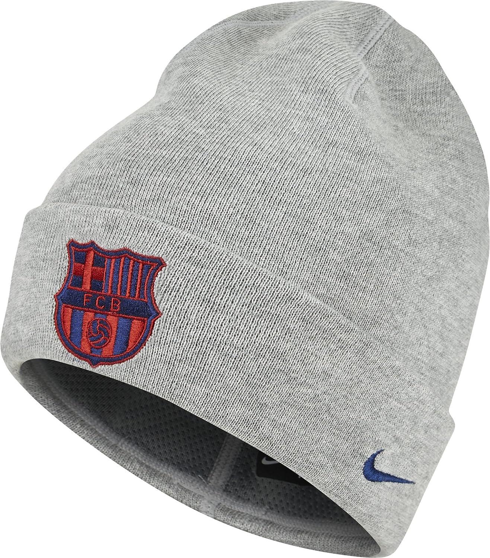 Nike FCB U Nk Beanie Training Gorra FC Barcelona, Hombre, Gris (Dk ...