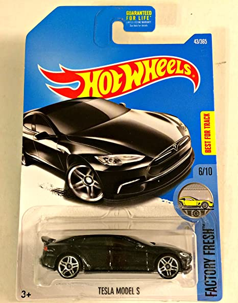 Hot Wheels 2017 Factory Fresh Tesla Model S 43/365, Black Long Card