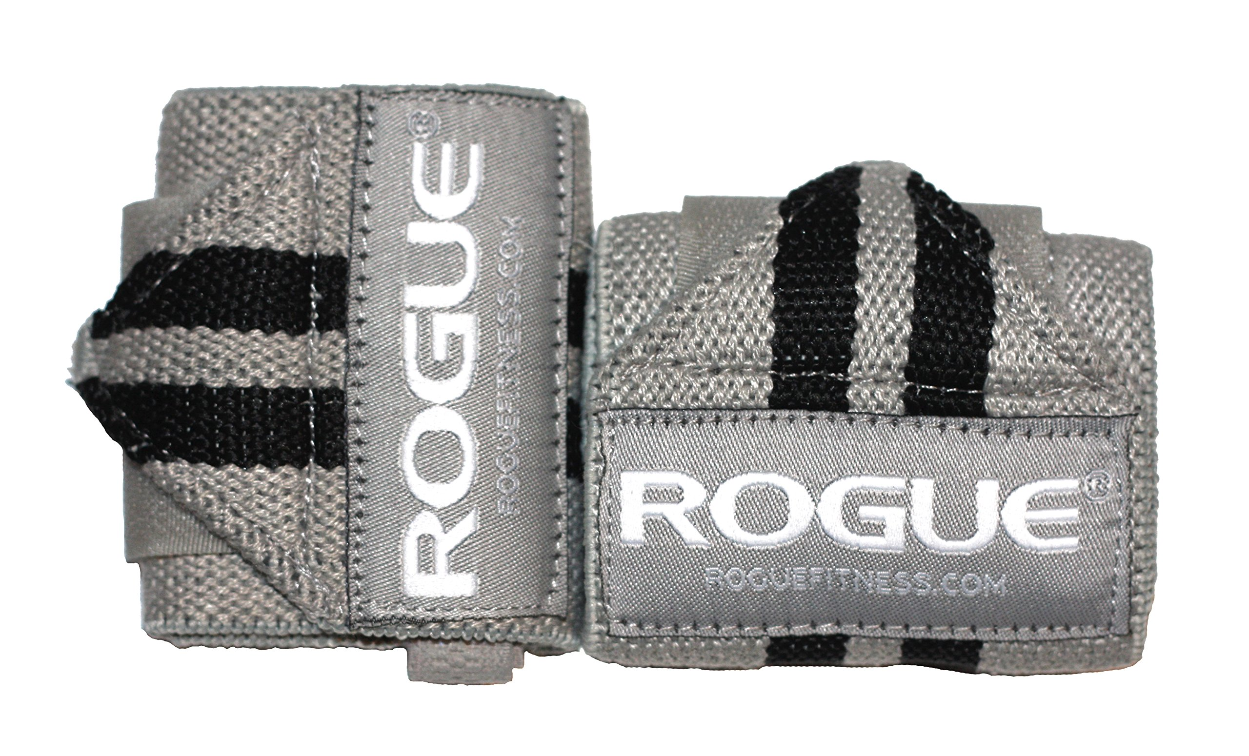 Rogue Fitness Wrist Wraps | Available in Multiple Colors (Gray, 12'') by ROGUE FITNESS