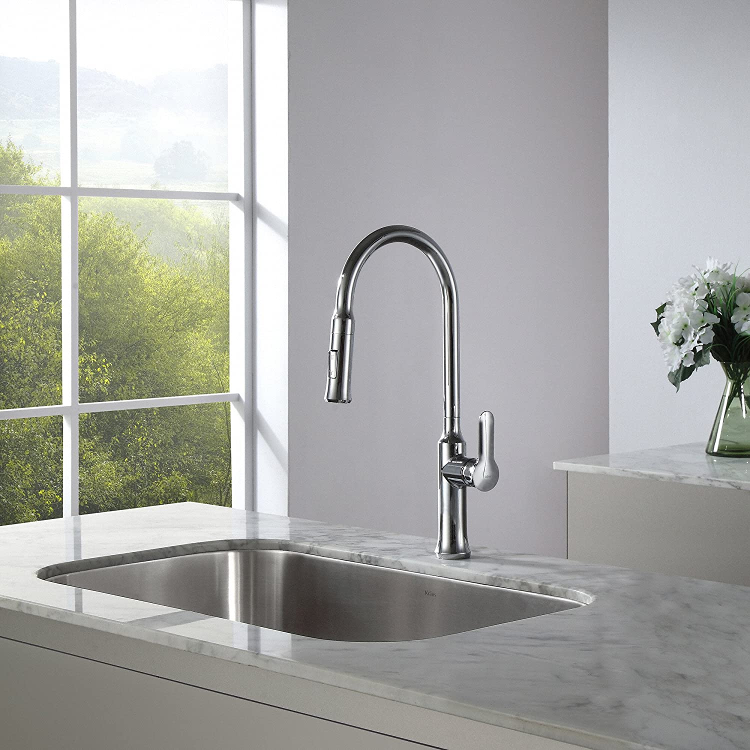 kraus kpf 1630ch nola single lever pull down kitchen faucet chrome