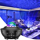 Star Projector, 3 in 1 Ocean Wave Projector Star Sky Night Light w/LED Nebula Cloud with Bluetooth Music Speaker & Timer Func