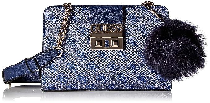 4ad64e66 Guess - Cruzado de lujo con logotipo para novia Mujer, Azul (Azul ...