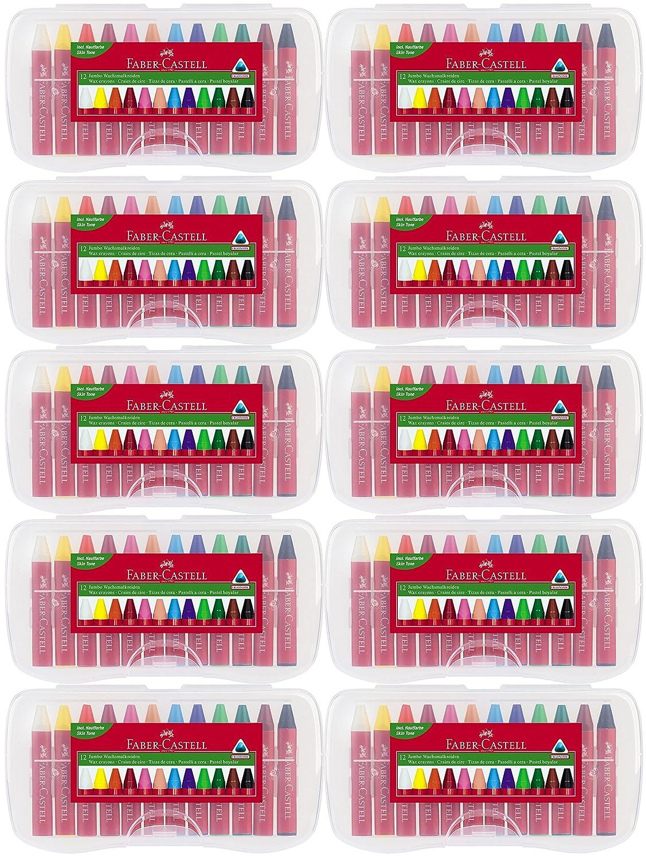 Faber-Castell 12 Jumbo Wachsmalkreiden (10er Kindergartenset) B01H1RMKFM | ein guter Ruf in der Welt