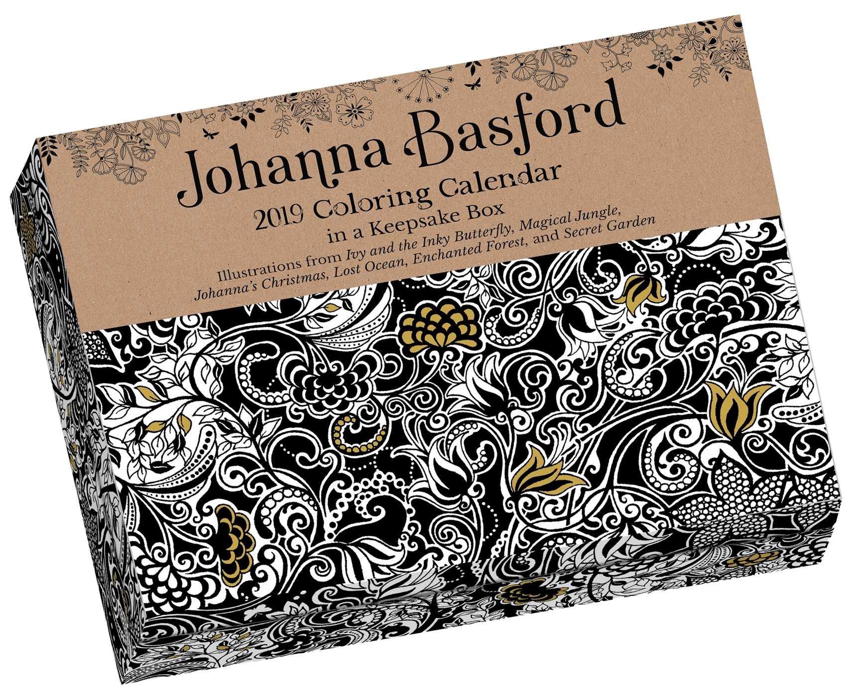 johanna basford 2019 coloring day to day calendar johanna basford 9781449492434 amazoncom books