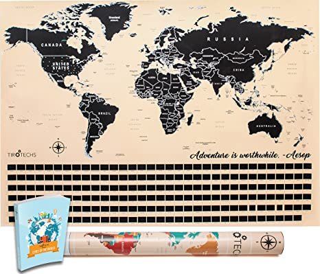 Amazon scratch off map by tirotechs new scratch off world map scratch off map by tirotechs new scratch off world map best scratch off map gumiabroncs Choice Image