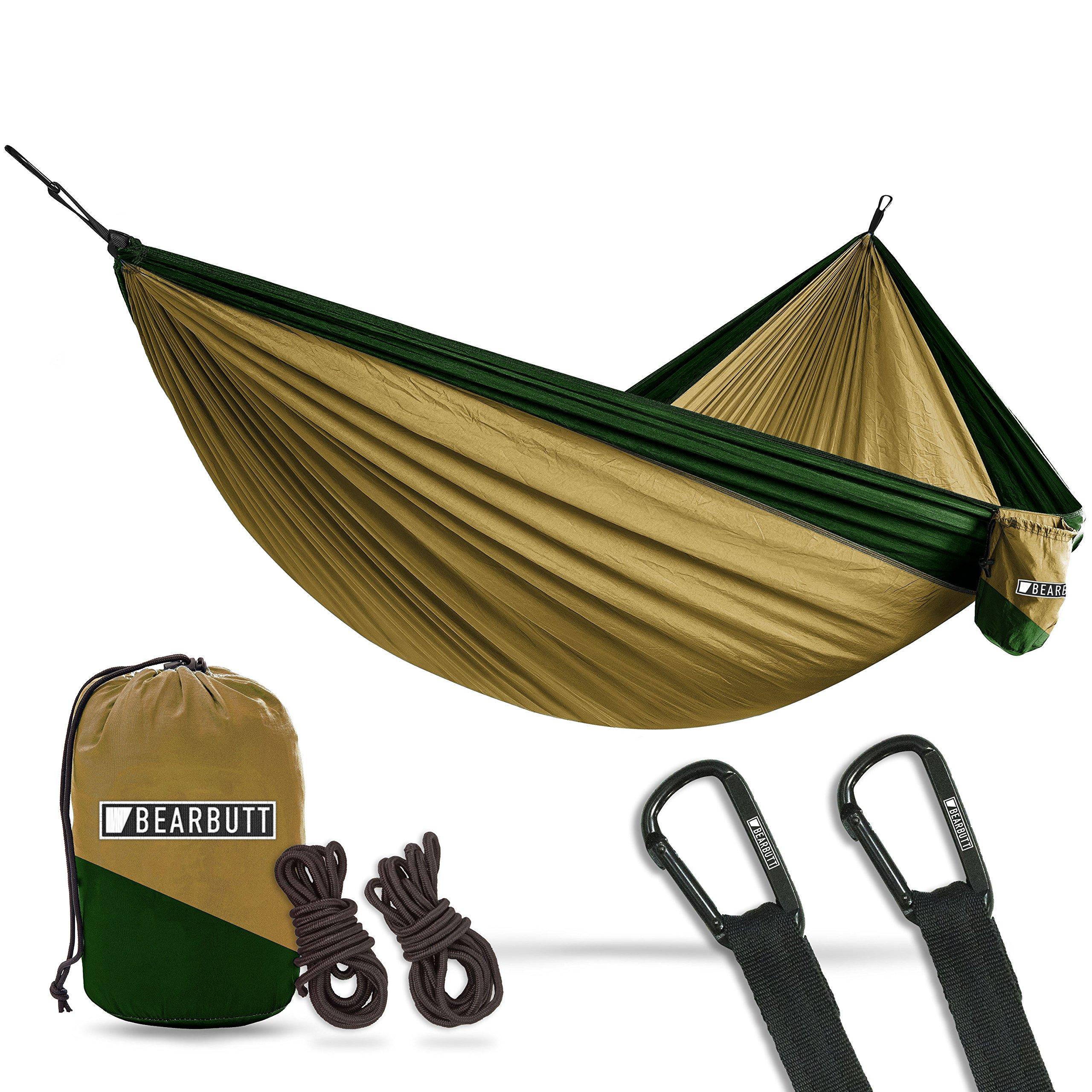 Bear Butt Double Parachute Hammock - Khaki/Dark Green