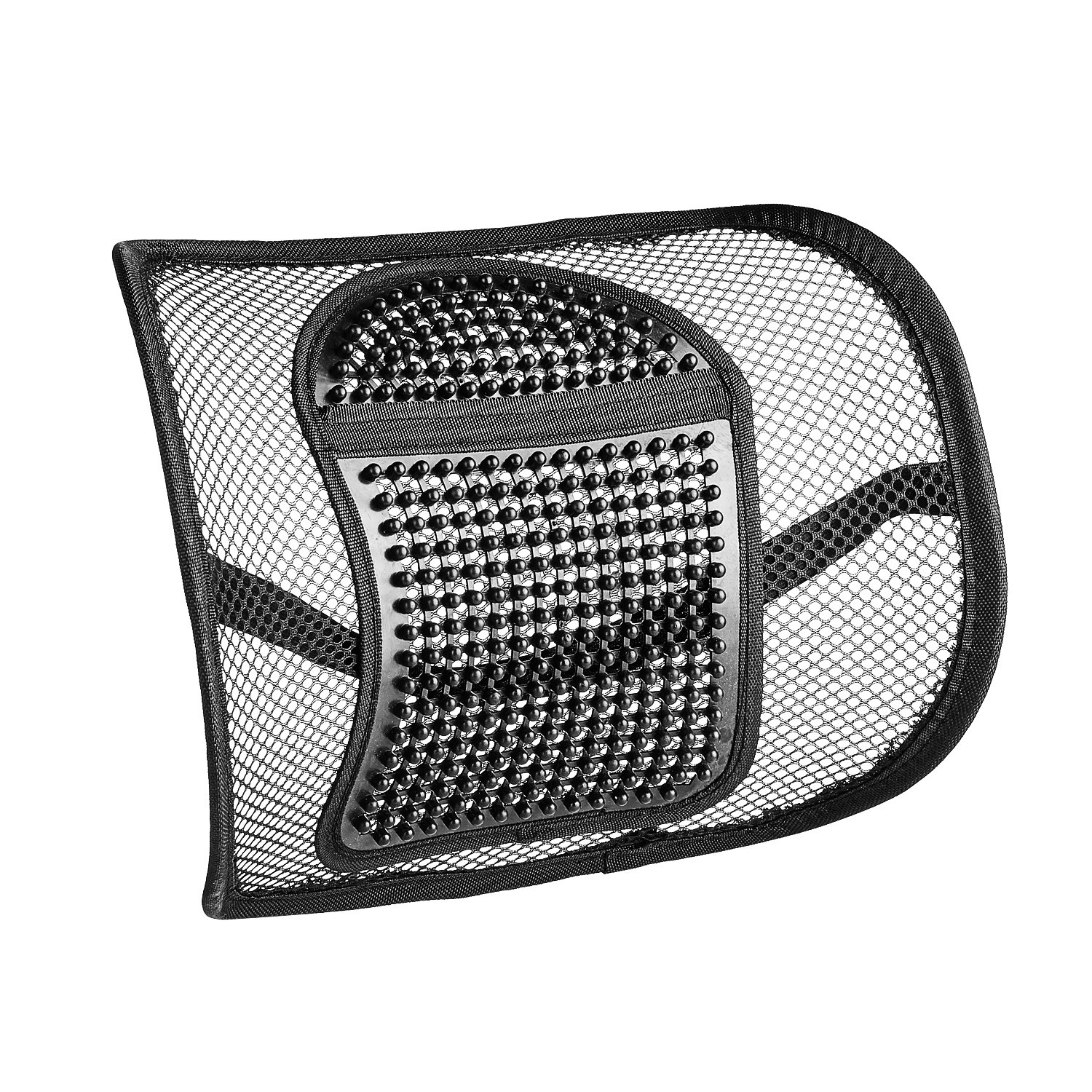 SERMICLE Lumbar Support Mesh,Vekey Back Support Mesh Back Cushion Breathable Comfortable Adjustable for All Types Car Seat Office Chair (PP Fiber Mesh, Standard)