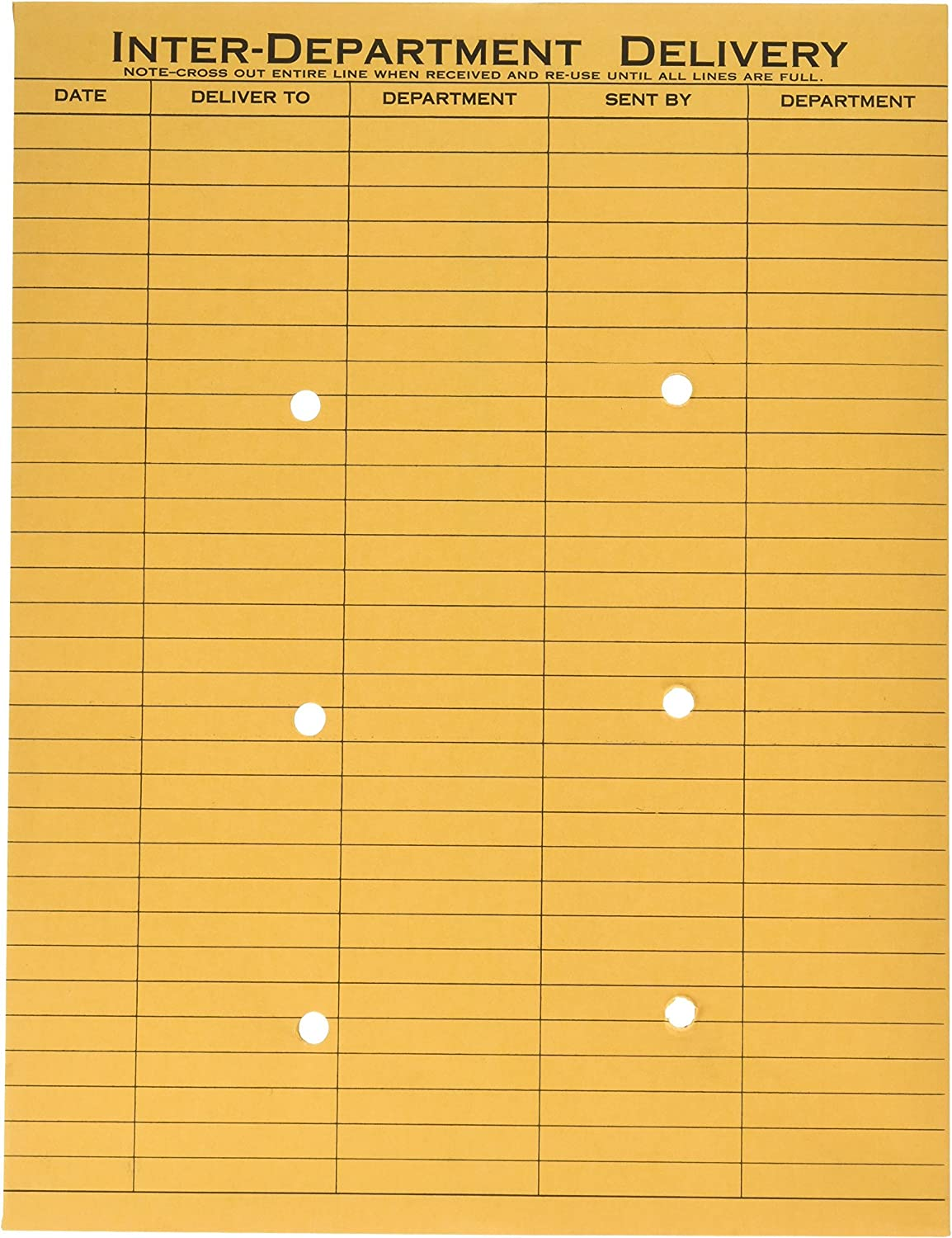 Quality Park 10 x 13 Interoffice Envelopes, with Reusable Redi-Tac Self Seal Closure, for Interoffice Mail, Heavyweight 32 lb Brown Kraft, 100 per Box