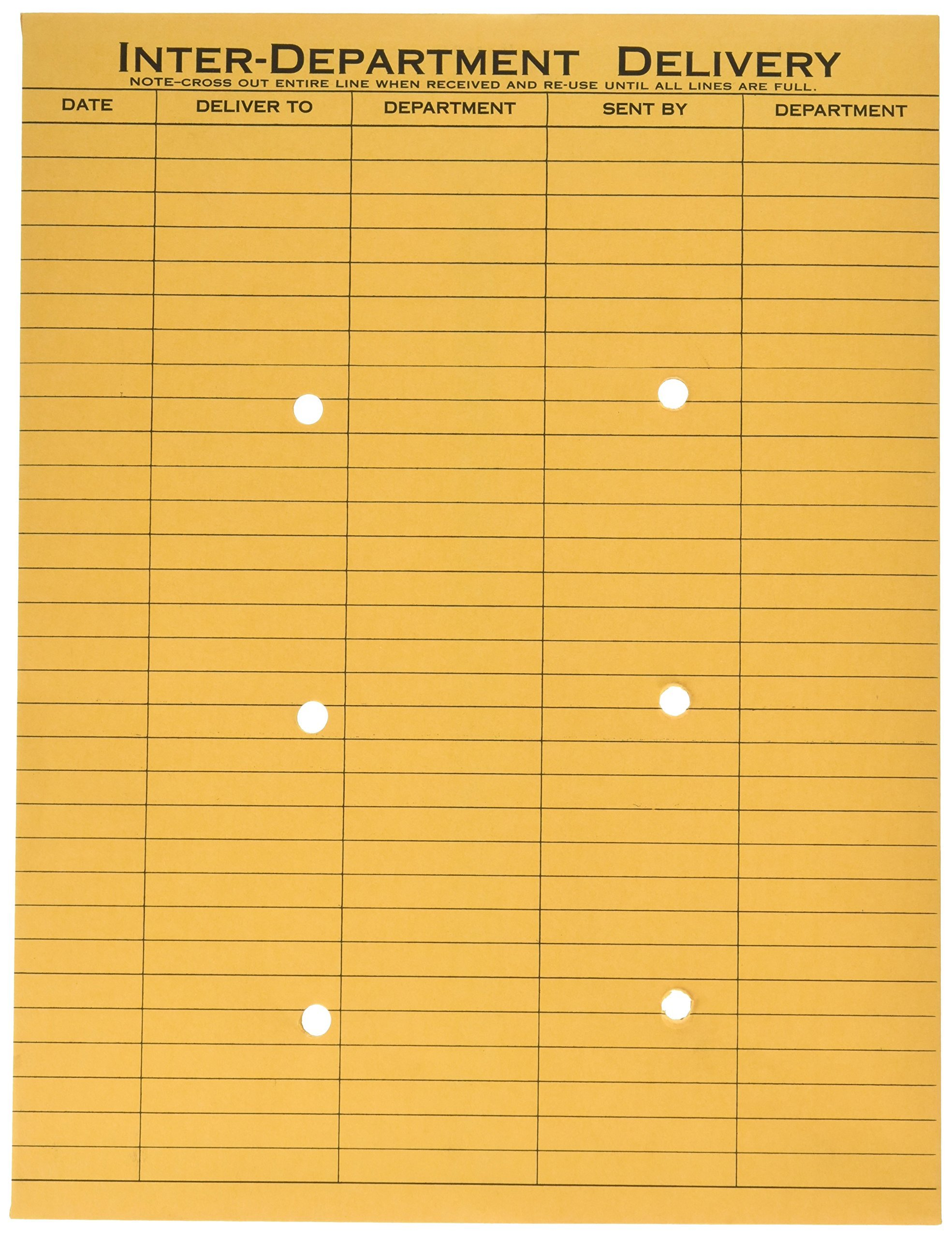 Quality Park 63664 Quality Park Resealable Interoffice Envelopes, 1-Side Print, 10x13,Kraft,100/Bx by Quality Park