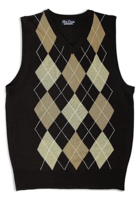 Blue Ocean Kids Argyle Sweater Vest-16/Large SV-255BOYS-Brown-16/Large