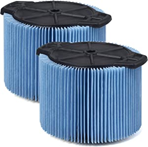 WORKSHOP Wet Dry Vac Filters WS12045F2 Fine Dust Wet Dry Vacuum Filters (2-Pack - Shop Vacuum Filters) For WORKSHOP 3-Gallon To 4-1/2-Gallon Shop Vacuum Cleaners