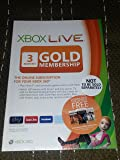 Xbox LIVE Gold 3-Month Membership Card (Xbox One/360)