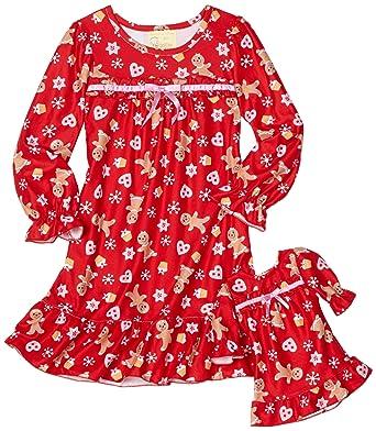 Amazon.com  Dollie   Me Little Girls  Gingerbread Man Nightgown 3ae9e006f