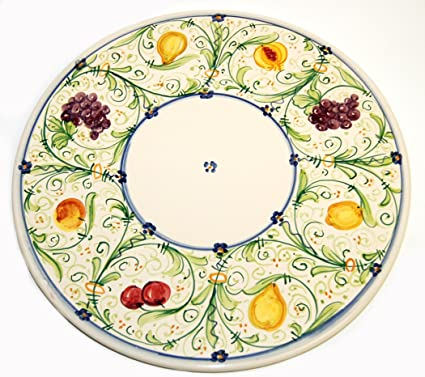 Simonetti Hand Painted Italian Ceramic Cheese/Cake Plate/Platter Made in Italy  sc 1 st  Amazon.com & Amazon.com | Simonetti Hand Painted Italian Ceramic Cheese/Cake ...