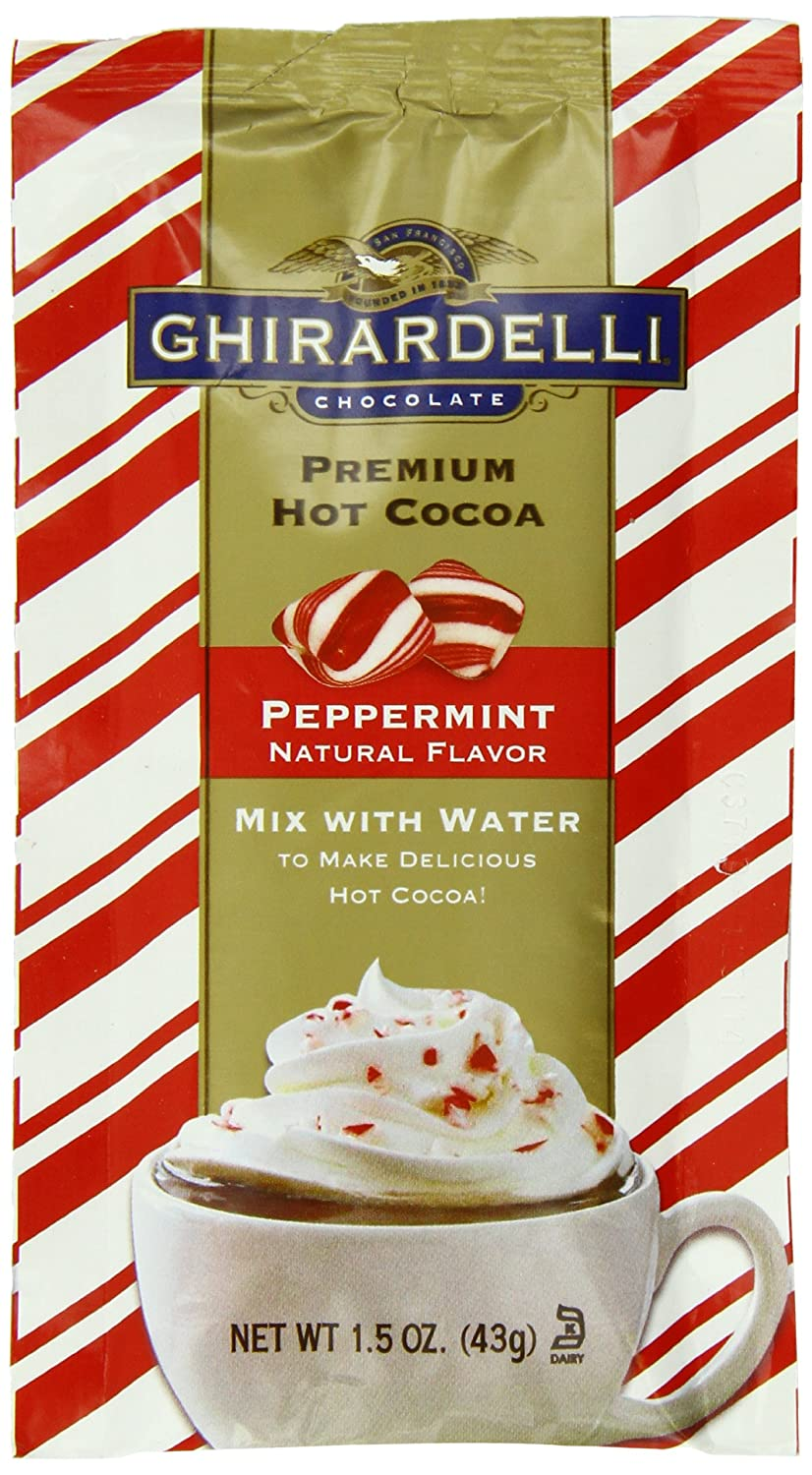 Amazon.com : Ghirardelli Hot Chocolate Packet Caddy, Peppermint ...