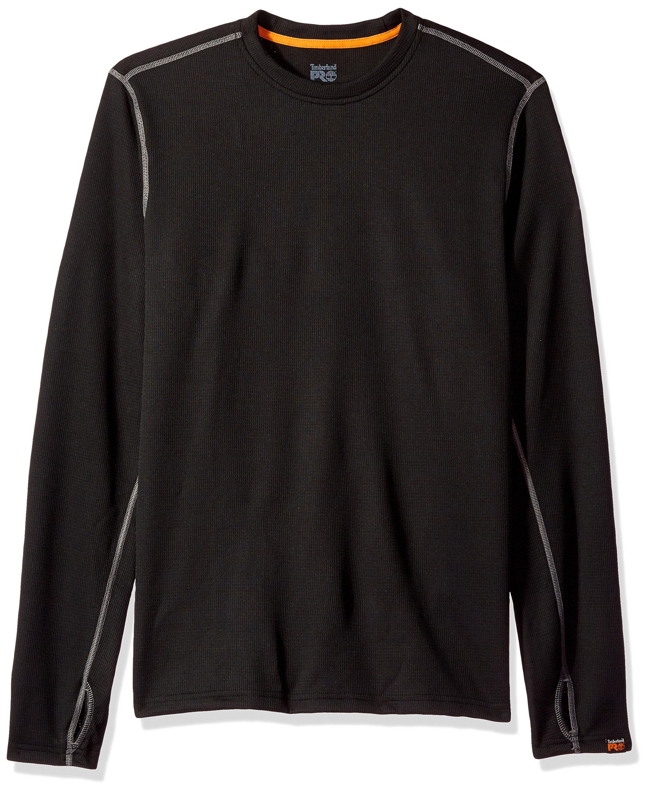 Timberland PRO Men's Skim Coat Light Thermal Top, Jet Black, Medium