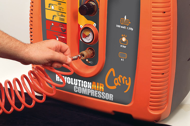 RevolutionAIR 8215030 Compresor de Aire 230 V, Carry: Amazon.es: Bricolaje y herramientas