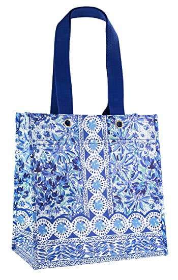 Amazon.com: Lilly Pulitzer - Bolsa de la compra reutilizable ...