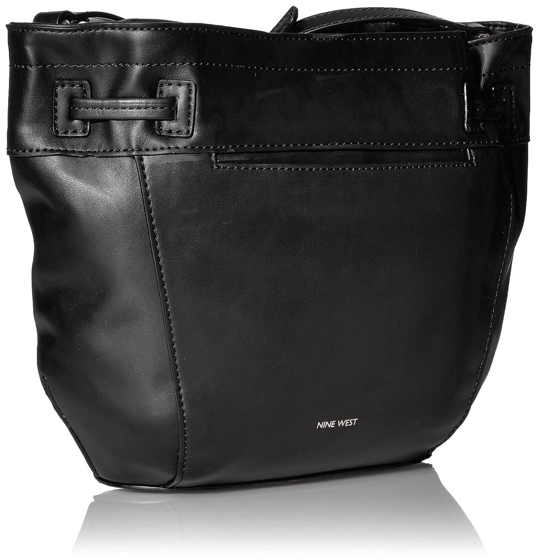 487b39c400a24 Nine West Take A Lift Crossbody Bucket Bag, Black/Moody Blue: Handbags:  Amazon.com