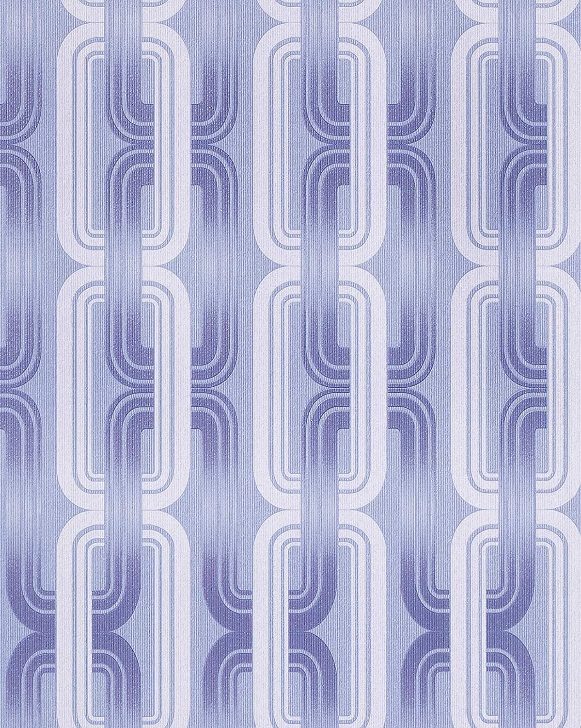 Retro 70s style wallpaper wall EDEM 038-22 graphical pattern pastel ...