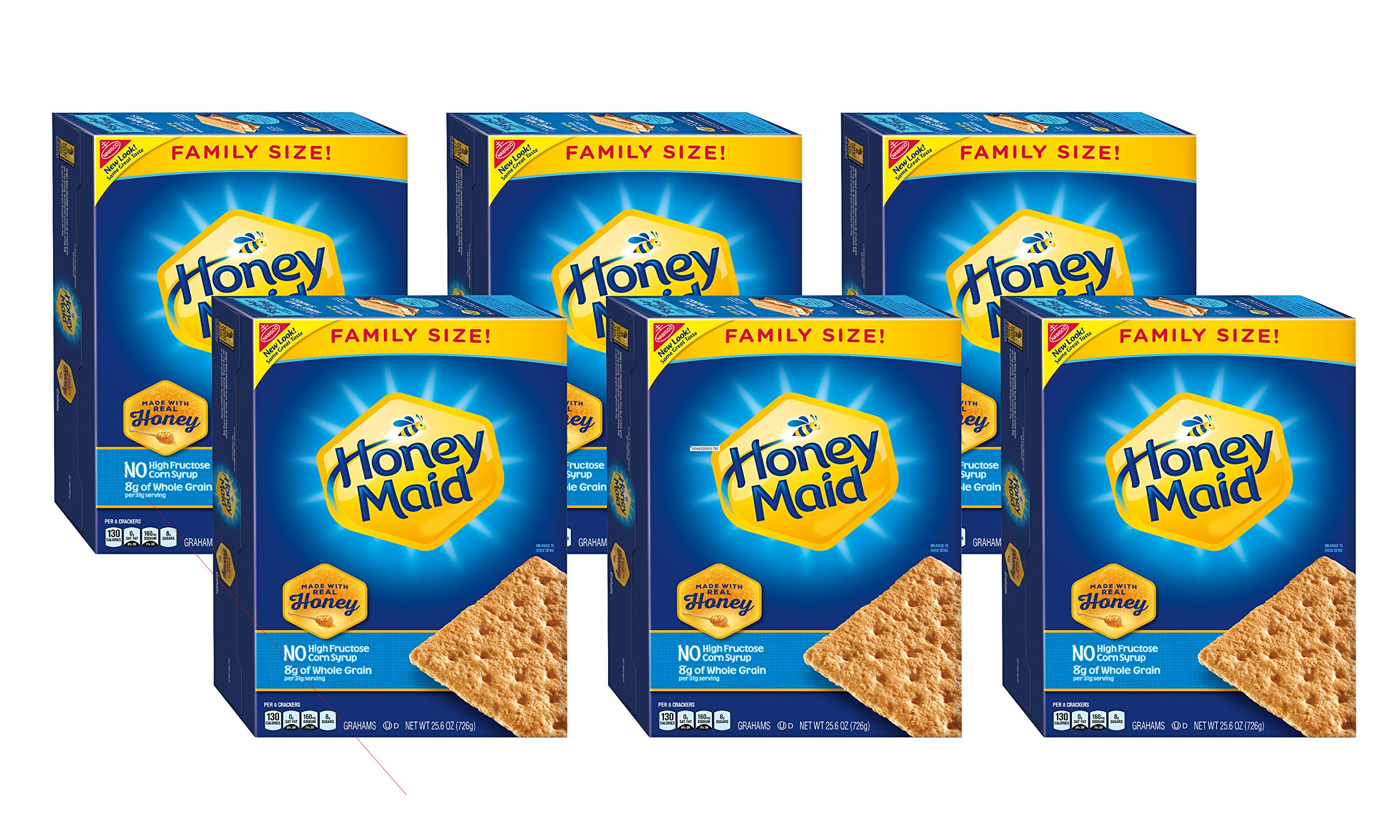 Honey Maid Honey Graham Crackers - Family Size, 25.6 Ounce (Pack of 6) by Honey Maid (Image #5)
