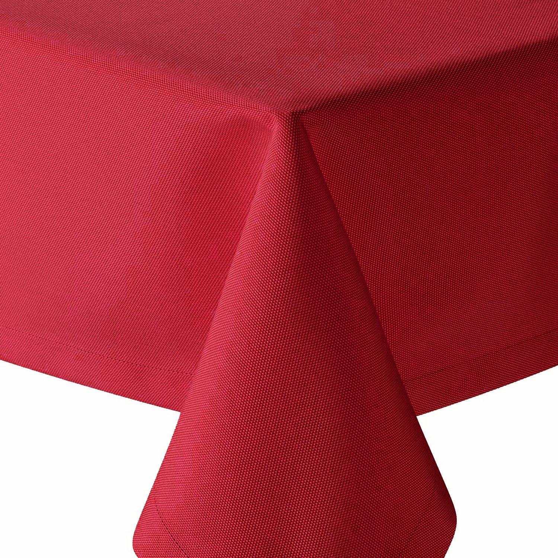 Tafeldecke Brilliant Leinenoptik Eckig 160x360 cm Champagner Creme - Farbe Farbe Farbe & Größe wählbar mit Fleckschutz - (E160x360CH) B079X7BM6J Tischdecken 52576e