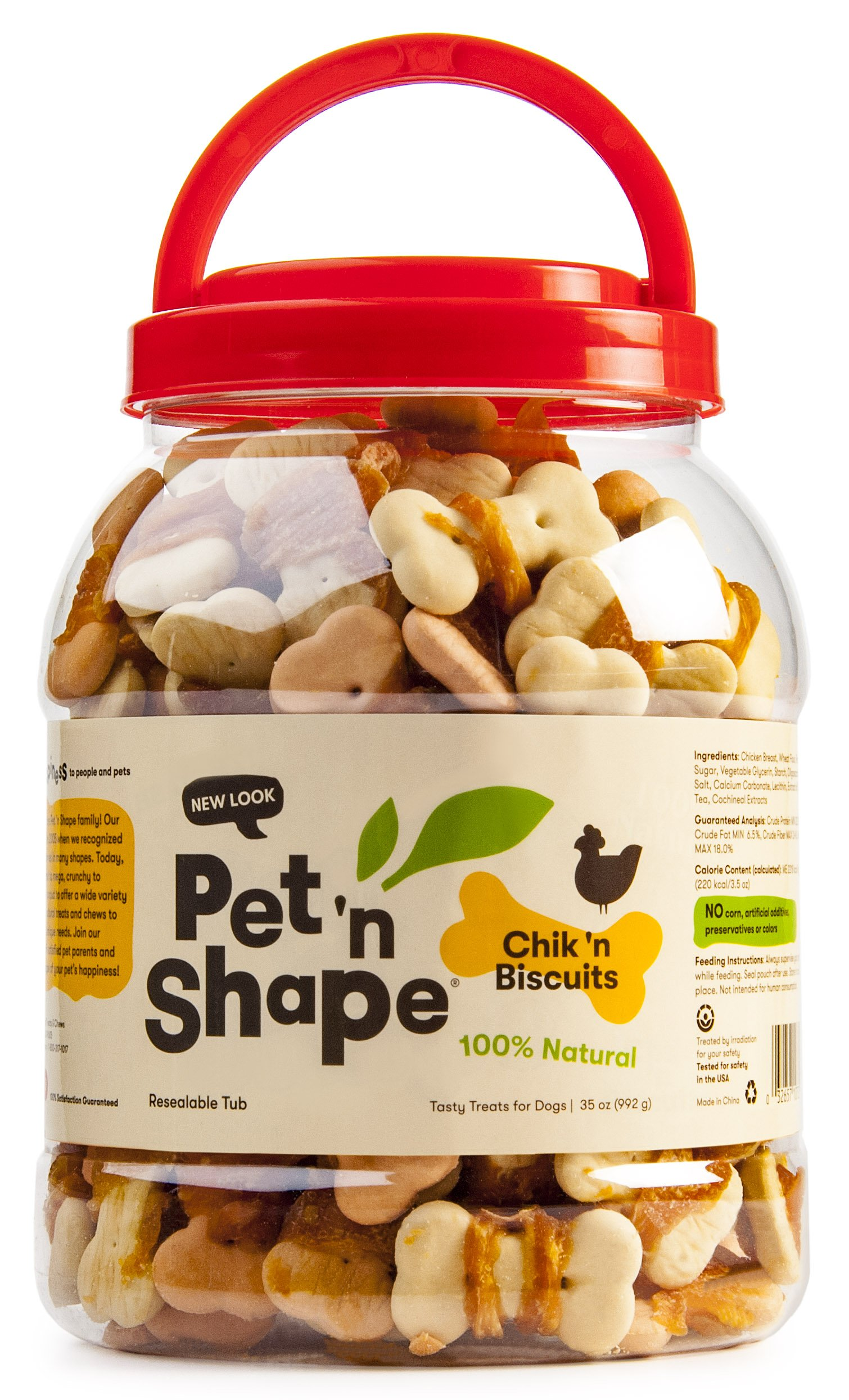 Pet 'n Shape Chicken Biscuits Natural Dog Treats, 2-Pound Tub