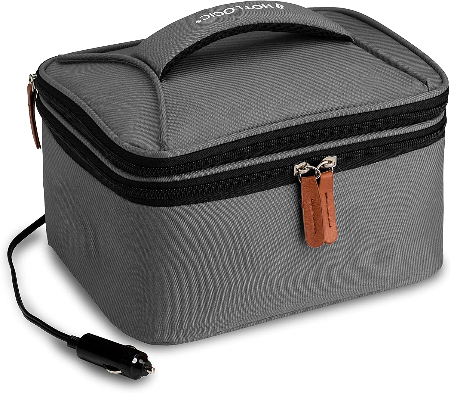 HotLogic 16801174-GY Food Warming Tote Lunch Bag Plus 12V, Gray