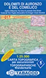 Dolomiti di Auronzo e del Comelico 1:25.000