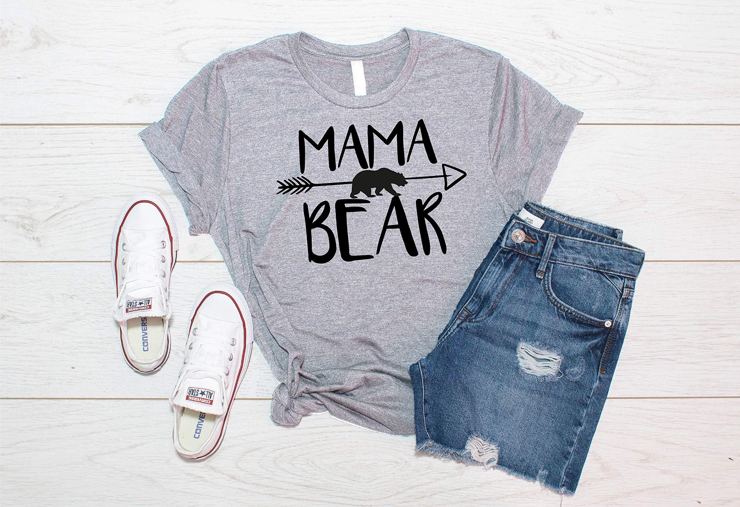 Mama Bear Shirt, Mother's Day Shirt,mom Bear Shirt Arrow, Gift For Mom, Mom Tee, Mom Life,