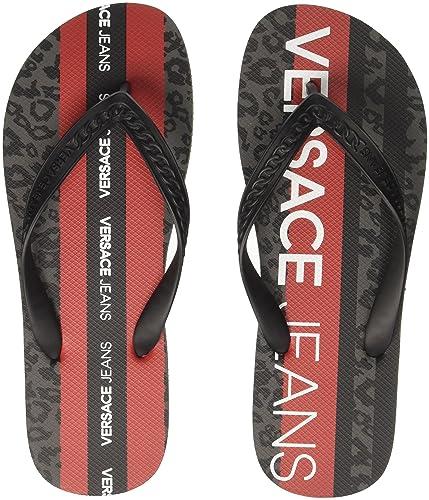 028cd24f78dd1b Versace Jeans Men s Scarpa Flip Flops  Amazon.co.uk  Shoes   Bags